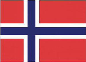 Handels-und Nationalflagge Norwegens