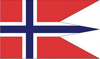 Staats- und Marineflagge Norwegens