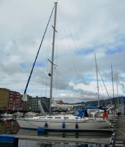 Die Nordwind im Hafen von Trondheim