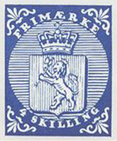 norwegen-erste-briefmarke