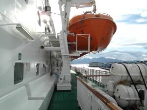 An Bord der Hurtigruten - An Deck 5 der MS Nordnorge