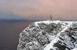 Am Nordkap - der berühmte Felsen