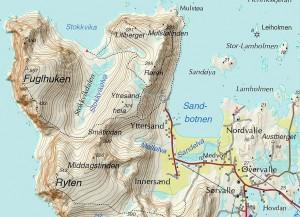 Fuglhuken - Karte (Quelle: godtur.no)