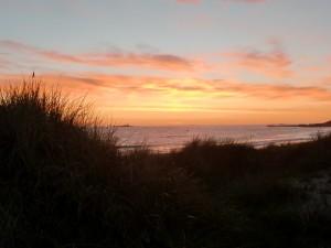 Abendstimmung am Strand  Foto: Kirsten Henckel