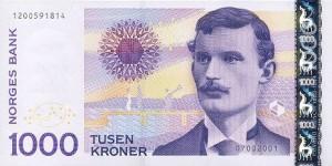 Norwegische Banknoten: 1.000 NOK