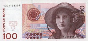Norwegische Banknoten: 100 NOK
