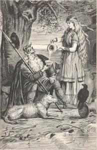 Norrøn mytologi: Odin und seine Tochter Saga
