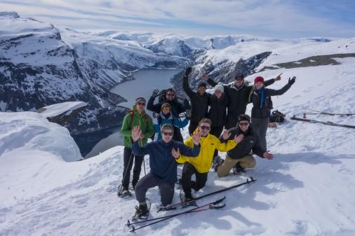 Winter-Abenteuer auf der Trollzunge (Foto: Trolltunga active)
