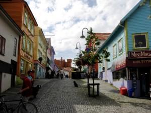 Straßenszene in Stavanger