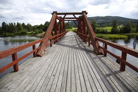 Die Brücke Vikbron längs des St. Olavsleden. Foto: Svanthe Harström