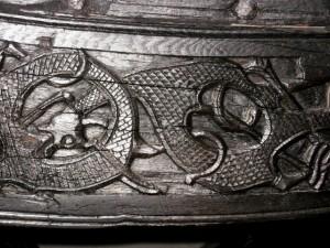 Vikingskiphuset - Detail eines Schiffes