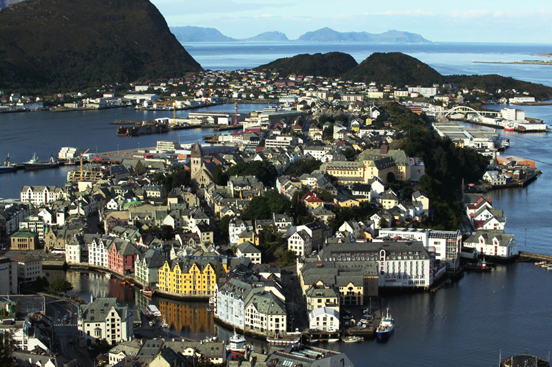 Jugendstil-Flair mitten in den Fjorden. Ålesund. Foto: Oldenburg Kommunikation