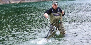 Die WM im Fliegenfischen findet dieses Jahr in Nordnorwegen statt. Foto: Lars Farbu.
