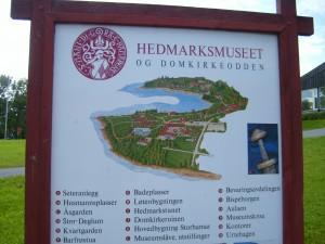 Lageplan des Hedmarkmuseums