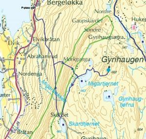 Mørkonga-Karte