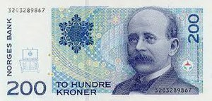 Kristian Birkeland - 200 Kronen