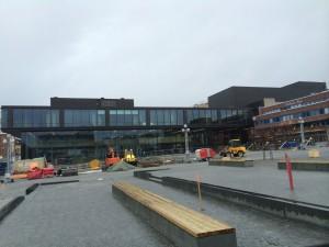 Hamar Kulturhaus - Ende der Bauphase