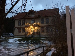 Haus zu Weihnachten