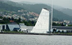 Blick von See auf Molde Foto: Kirsten Henckel
