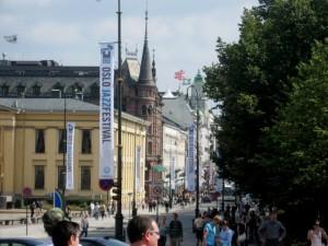 Oslo - festlich geschmückt für das Jazzfestival