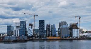 Barcode Projekt, The Carve (rechts), Wikipedia, Helge Høifødt 2012