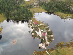 Übernachten in Jurten bei Heimdal. Foto: Visit Norway