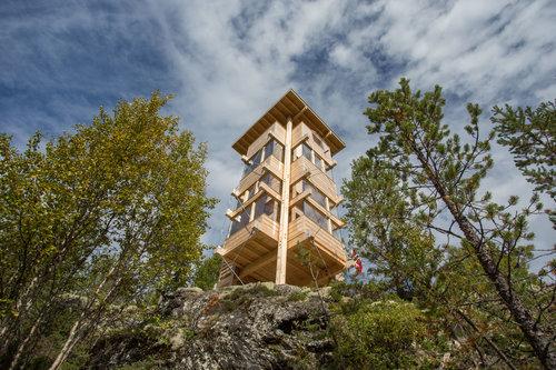 Nordische Wildnis erleben im Elchturm. Foto: Elgtårnet.